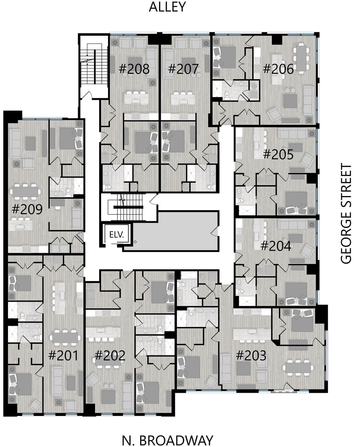 Second floor unit layout