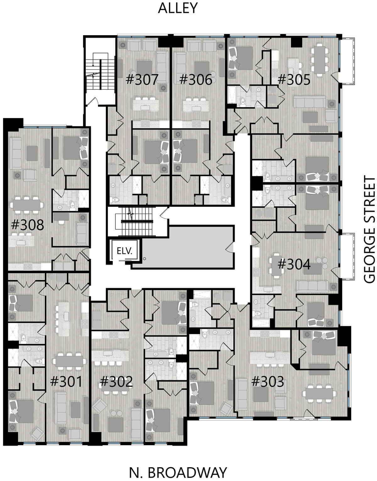 Third floor unit layout