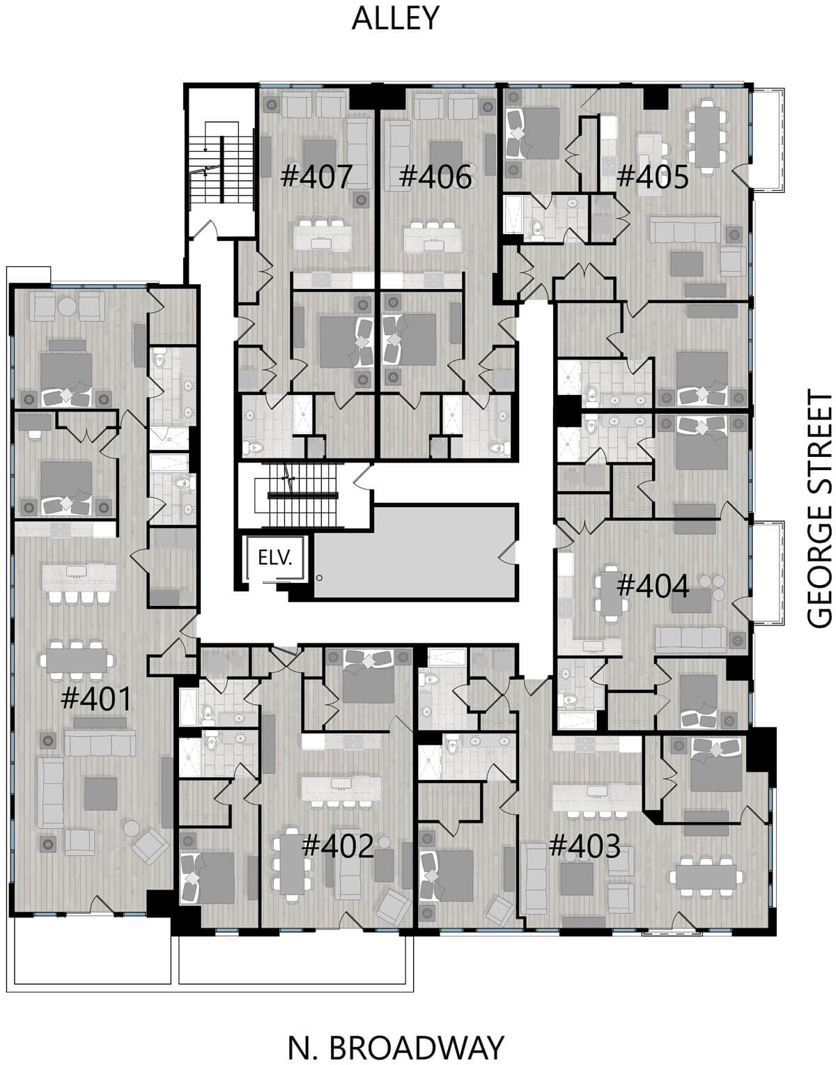 Fourth floor unit layout